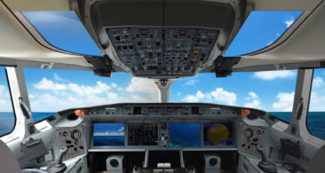 <strong>Viewport</strong><br>The large spherical top viewport provides the pilot with excellent all-round visibility